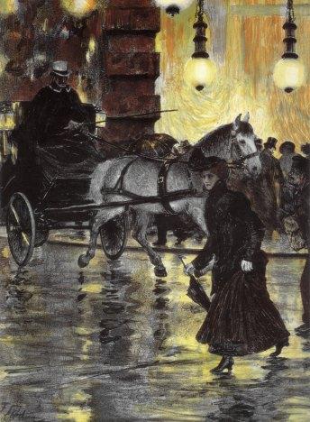 Franz_Skarbina_Friedrichstraße_an_einem_regnerischen_Abend_1902