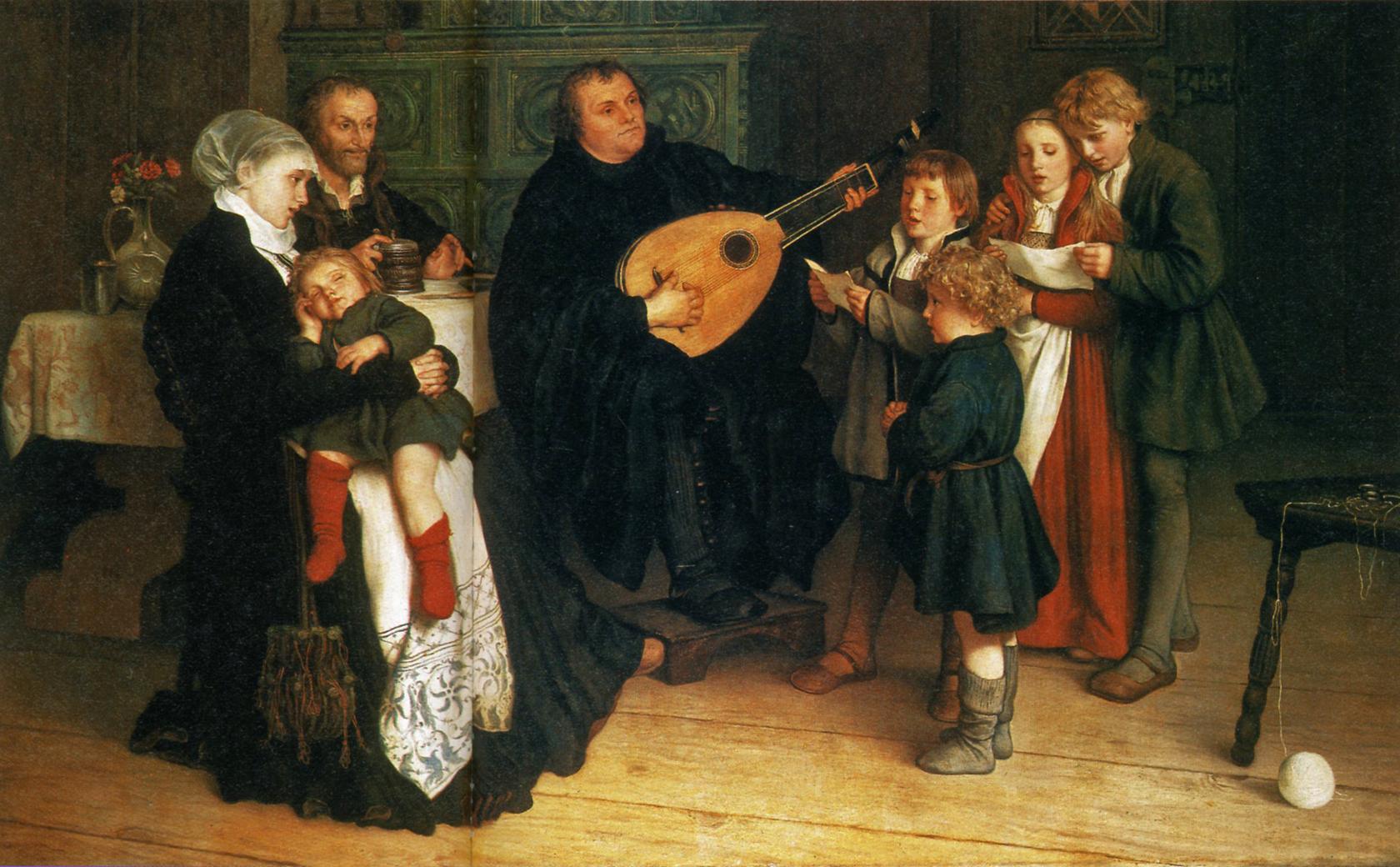 Gustav_Adolf_Spangenberg_Luther_im_Kreise_seiner_Familie_musizierend_1866