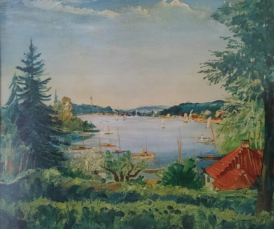 Franz Heckendorf, Blick auf den Wannsee, 1929