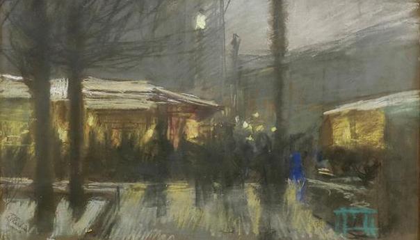 Franz Skarbina Weihnachtsmarkt in Berlin, o. J.