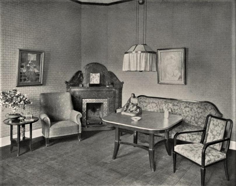 Neu_Cladow_Wohnzimmer_um_1912_Quelle_Moderne Bauformen Monatshefte für Architektur und Raumkunst (12 1913)